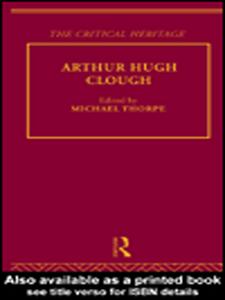 Ebook in inglese Arthur Hugh Clough