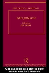 Foto Cover di Ben Jonson, Ebook inglese di  edito da Taylor and Francis