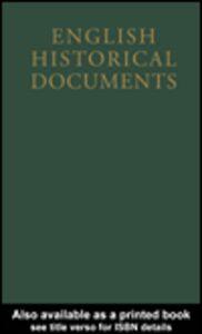 Foto Cover di English Historical Documents, Ebook inglese di C.H. Williams, edito da