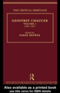 Ebook in inglese Geoffrey Chaucer Brewer, Derek