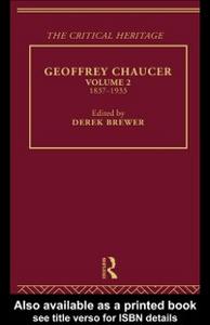 Ebook in inglese Geoffrey Chaucer Brewer, Derek
