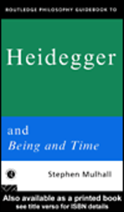 Ebook in inglese Routledge Philosophy GuideBook to Heidegger and Being and Time Mulhall, Stephen
