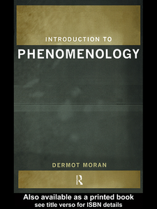 Ebook in inglese Introduction to Phenomenology Moran, Dermot
