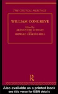 Ebook in inglese William Congreve -, -