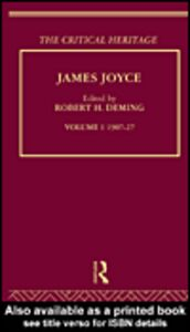 Foto Cover di James Joyce. Volume I: 1907-27, Ebook inglese di Robert Deming, edito da