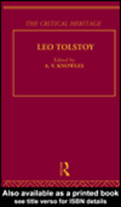 Ebook in inglese Count Leo Nikolaevich Tolstoy: The Critical Heritage