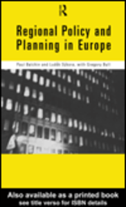 Ebook in inglese Regional Policy and Planning in Europe Balchin, Paul , Bull, Gregory , Sykora, Ludek