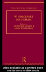 Ebook in inglese W. Somerset Maugham -, -
