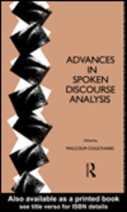 Ebook in inglese Advances in Spoken Discourse Analysis