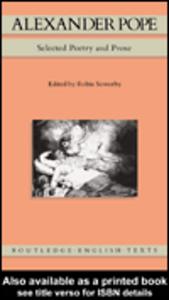 Ebook in inglese Alexander Pope Pope, Alexander
