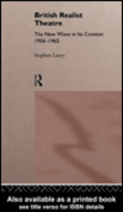 Ebook in inglese British Realist Theatre Lacey, Stephen