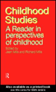 Ebook in inglese Childhood Studies