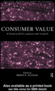 Ebook in inglese Consumer Value