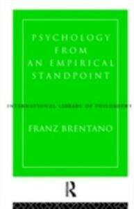 Foto Cover di Psychology from an Empirical Standpoint, Ebook inglese di Franz Brentano, edito da Taylor and Francis