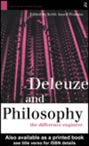 Ebook in inglese Deleuze and Philosophy