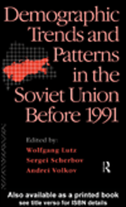 Ebook in inglese Demographic Trends and Patterns in the Soviet Union Before 1991