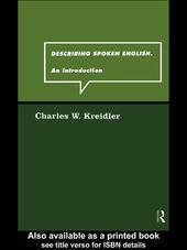 Describing Spoken English