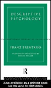 Ebook in inglese Descriptive Psychology Brentano, Franz