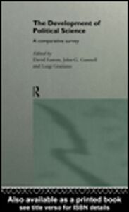 Ebook in inglese The Development of Political Science