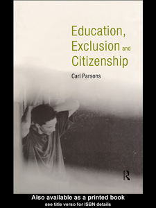 Ebook in inglese Education, Exclusion and Citizenship Parsons, Carl