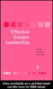 Ebook in inglese Effective Subject Leadership Field, Kit , Holden, Phil , Lawlor, Hugh