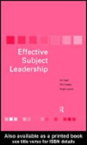 Effective Subject Leadership