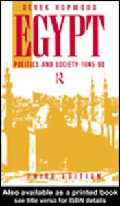 Ebook in inglese Egypt 1945-1990 Hopwood, Derek