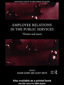 Ebook in inglese Employee Relations in the Public Services
