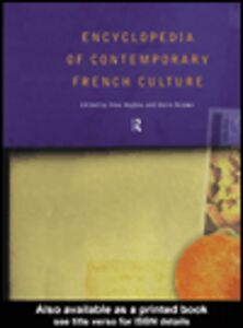 Ebook in inglese Encyclopedia of Contemporary French Culture