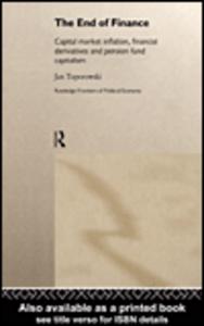 Ebook in inglese The End of Finance Toporowski, Jan