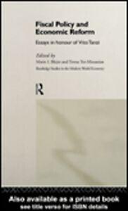 Foto Cover di Fiscal Policy and Economic Reforms, Ebook inglese di Mario I. Blejer,Teresa Ter-Minassian, edito da