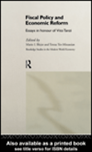 Ebook in inglese Fiscal Policy and Economic Reforms