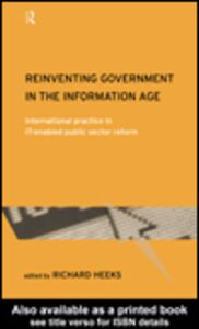 Ebook in inglese Reinventing Government in the Information Age