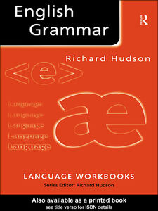 Foto Cover di English Grammar, Ebook inglese di Richard Hudson, edito da