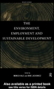 Ebook in inglese The Environment, Employment and Sustainable Development