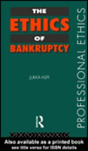 Ebook in inglese The Ethics of Bankruptcy Kilpi, Jukka