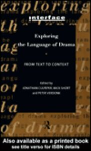 Ebook in inglese Exploring the Language of Drama
