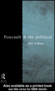 Ebook in inglese Foucault and the Political Simons, Jonathan