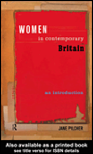 Ebook in inglese Women in Contemporary Britain Pilcher, Jane