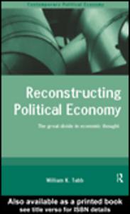 Ebook in inglese Reconstructing Political Economy Tabb, William K.