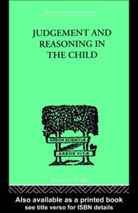 Ebook in inglese Judgement and Reasoning in the Child Piaget, Jean