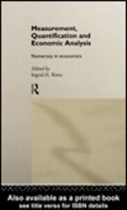 Ebook in inglese Measurement, Quantification and Economic Analysis