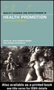 Ebook in inglese Quality, Evidence and Effectiveness in Health Promotion