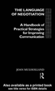 Ebook in inglese The Language of Negotiation Mulholland, Joan