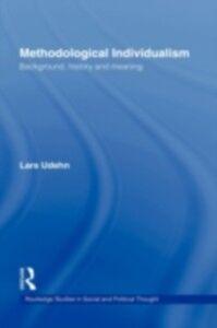 Ebook in inglese Methodological Individualism Udehn, Lars