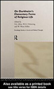 Foto Cover di On Durkheim's Elementary Forms of Religious Life, Ebook inglese di AA.VV edito da