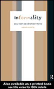 Ebook in inglese Informality Misztal, Barbara