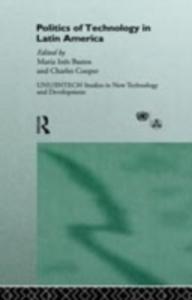 Ebook in inglese Politics of Technology in Latin America -, -