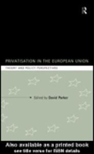 Ebook in inglese Privatization in the European Union