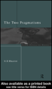 Ebook in inglese The Two Pragmatisms Mounce, Howard